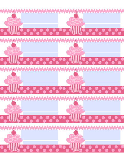 6 best images of cupcake printable label school for Cake labels template
