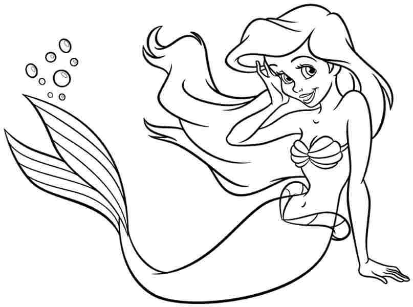 Gallery For gt Ariel Printable Coloring Pages