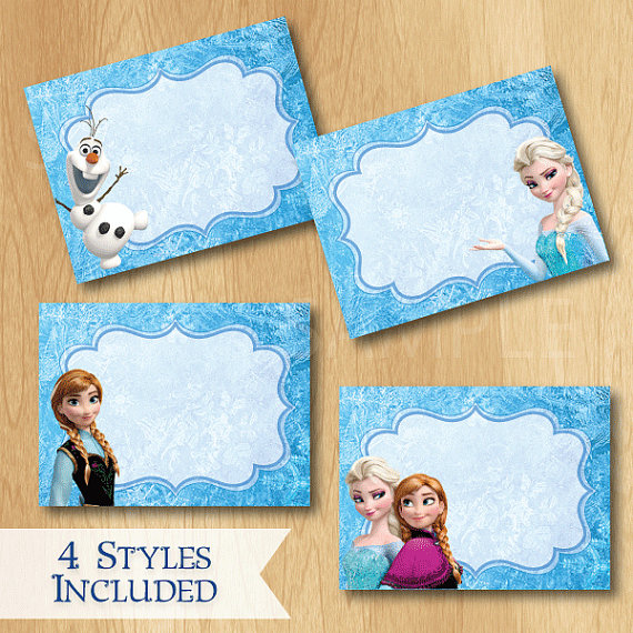 8 Images of Free Printable Disney Frozen Food Tent Labels