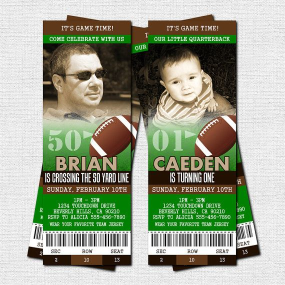 8 Images of Free Printable Football Ticket Birthday Invitations