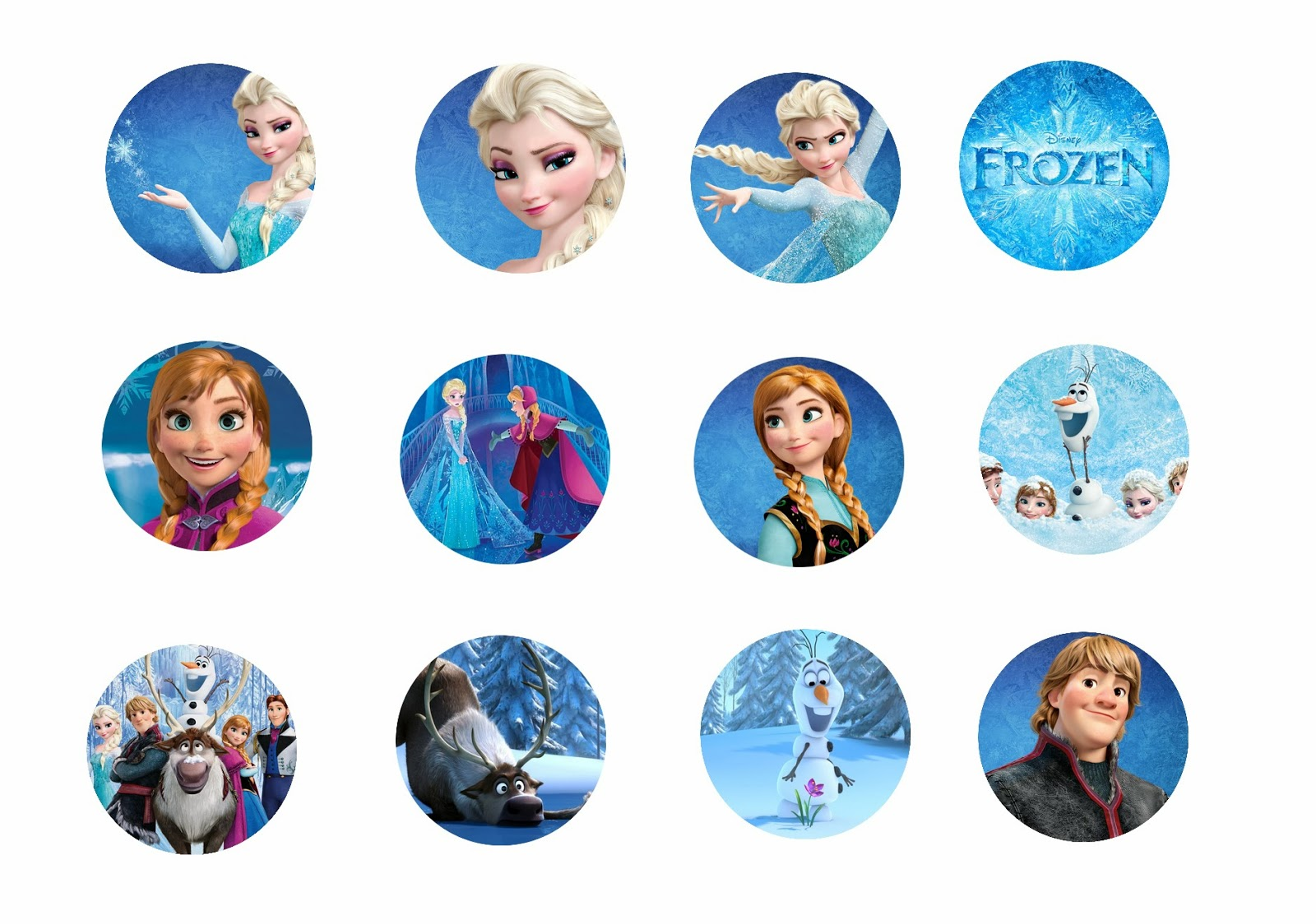 5 Images of Free Printable Frozen Bottle Cap