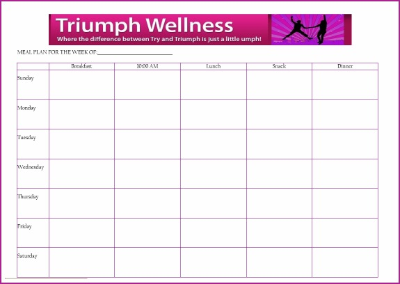 free meal planner template - 6 best images of free printable meal planner with snacks