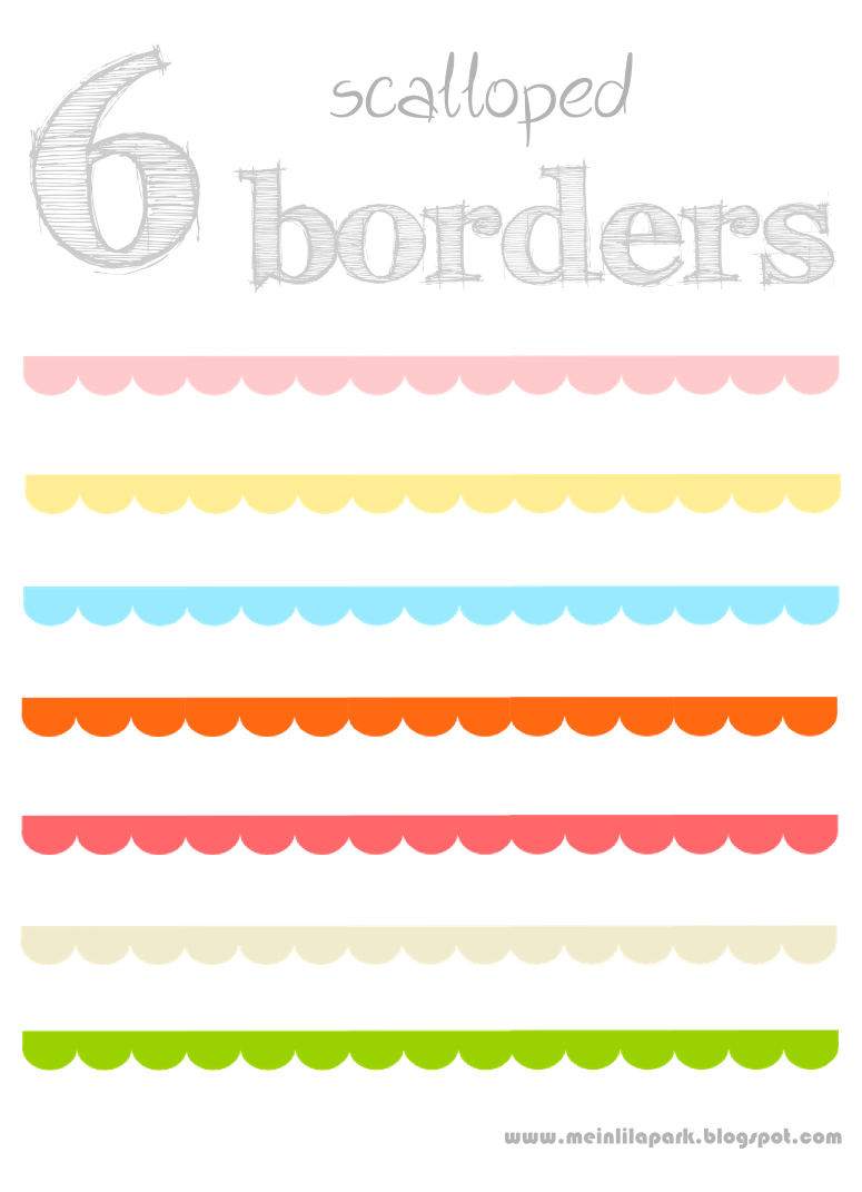 7 Images of Printable Scalloped Border