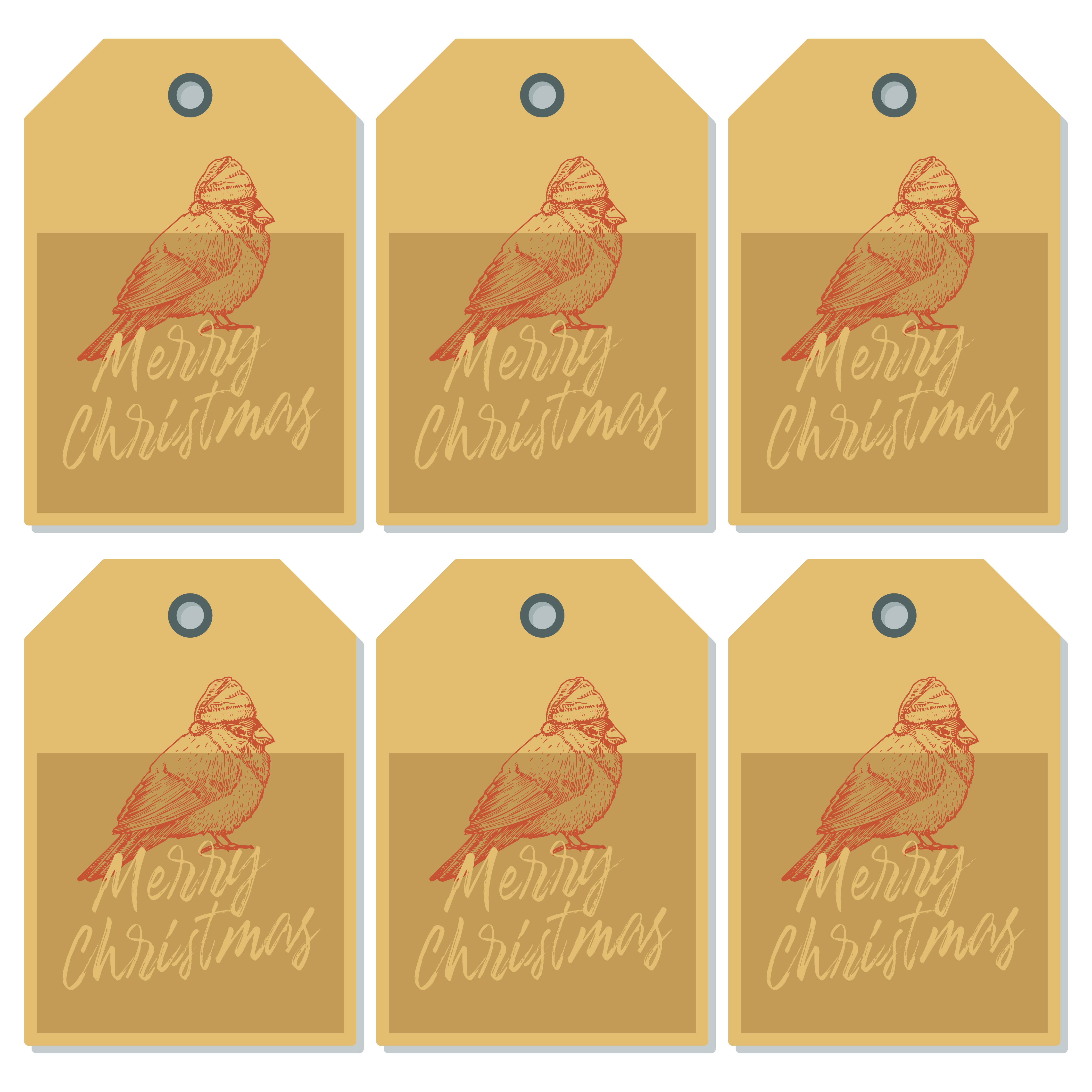 Primitive Printable Christmas Gift Tags