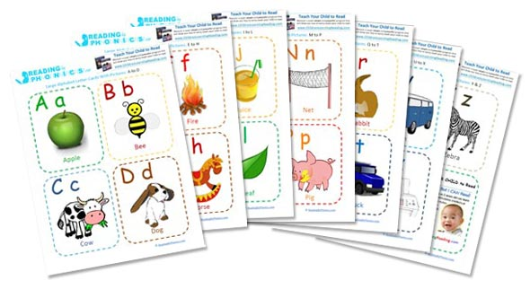 8 Images of Printable Phonics Picture Cards