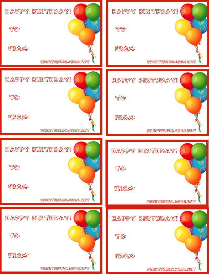 Eloquent image in free printable birthday gift tags
