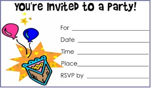 6 Images of B Day Invitations Printable Free