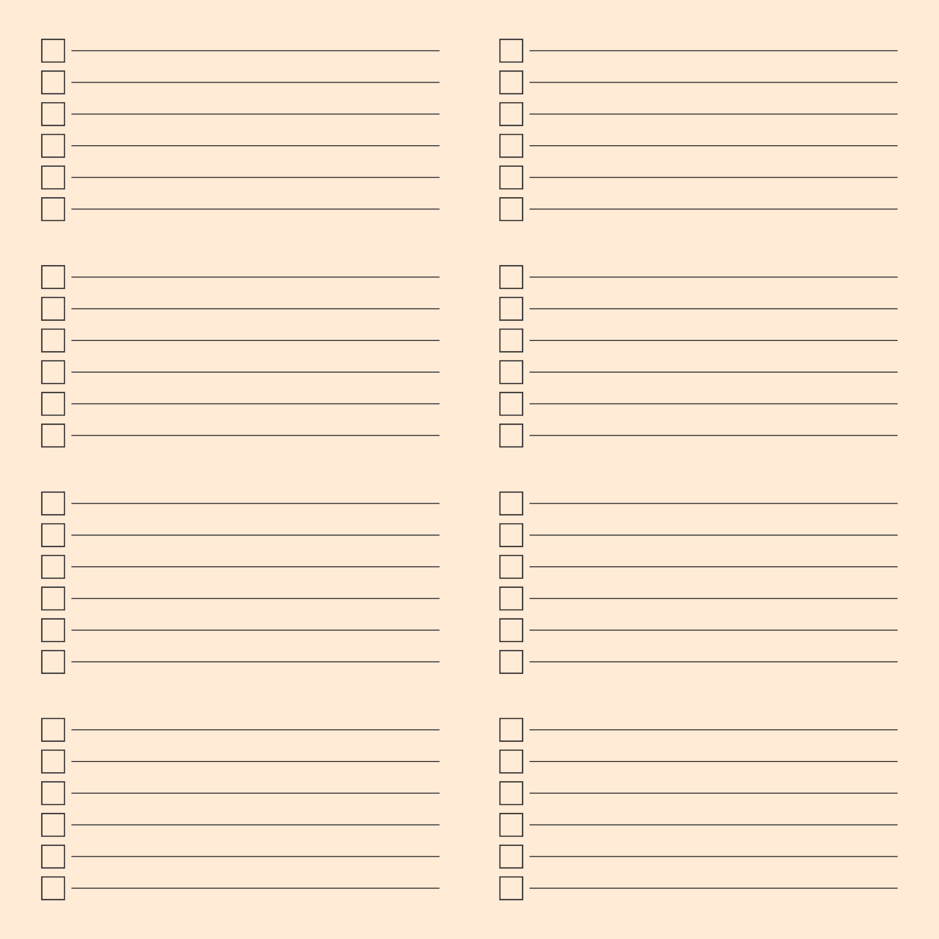 free checklist template - 7 best images of editable blank printable checklists