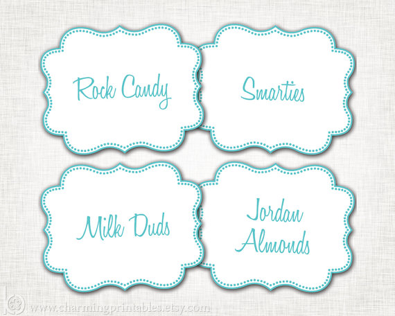Free Printable Candy Buffet Labels