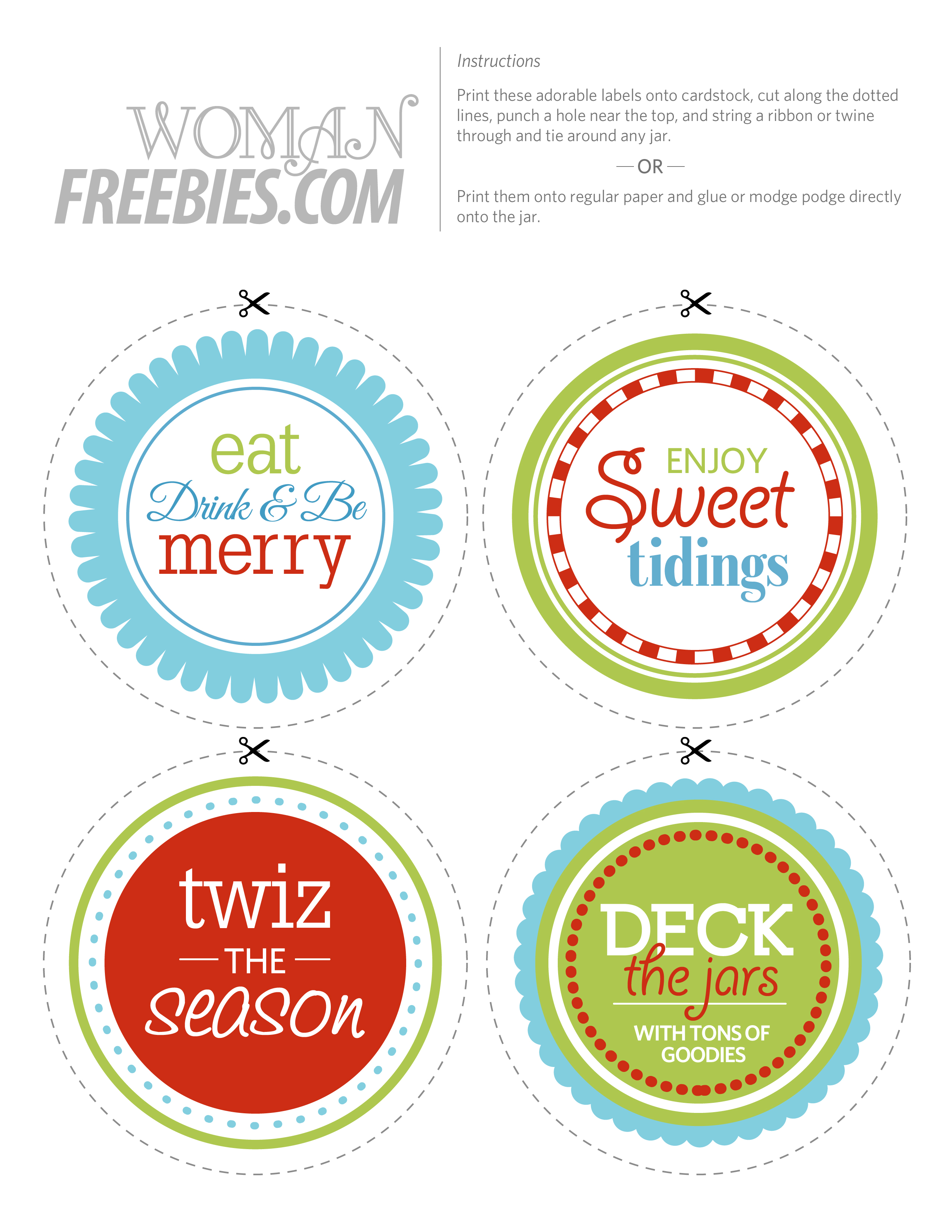 Free Printable Candy Jar Labels