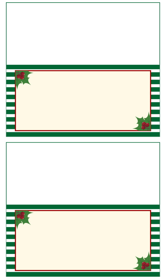 9 Images of Printable Christmas Place Cards