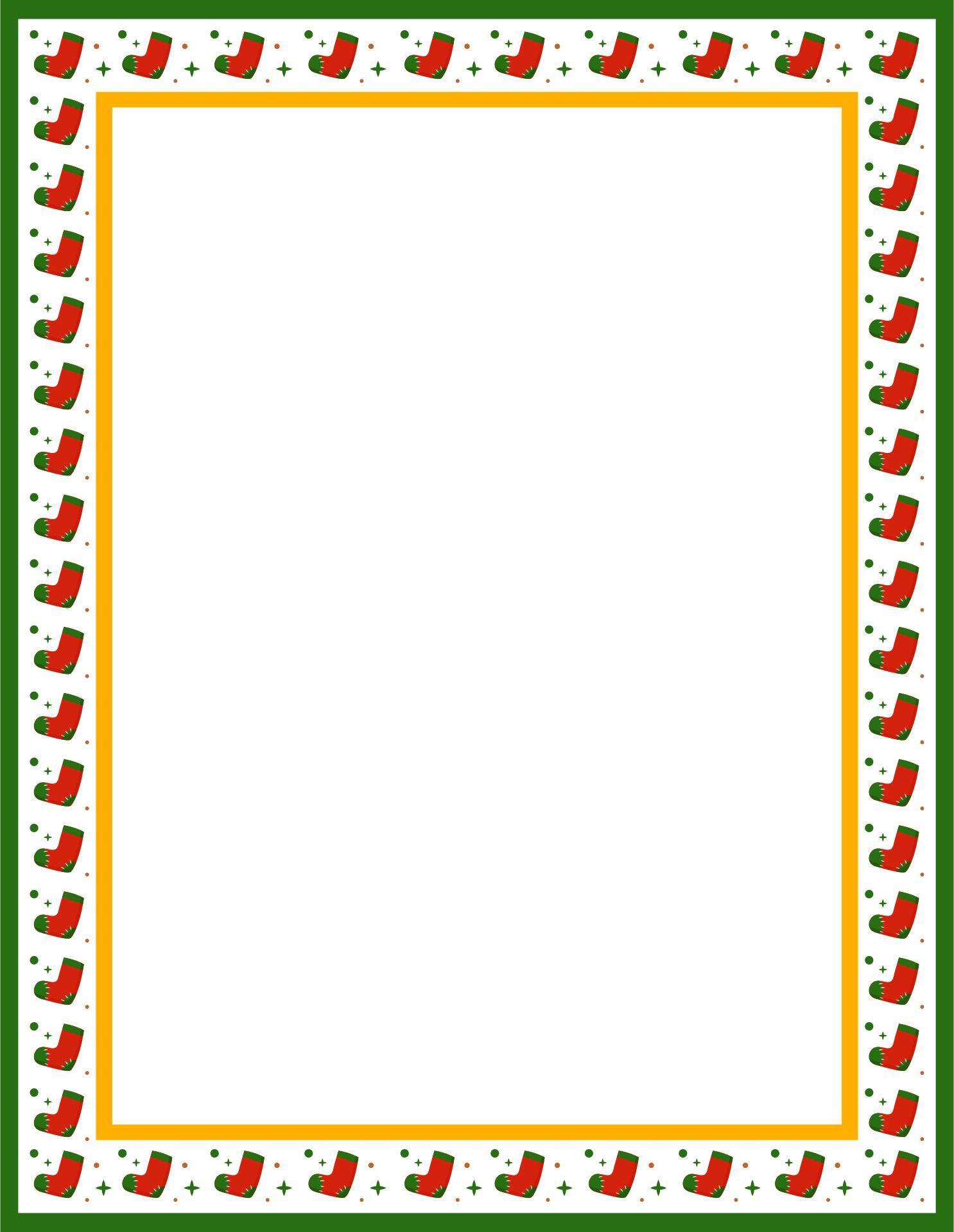 5 Images of Free Printable Christmas Border Templates