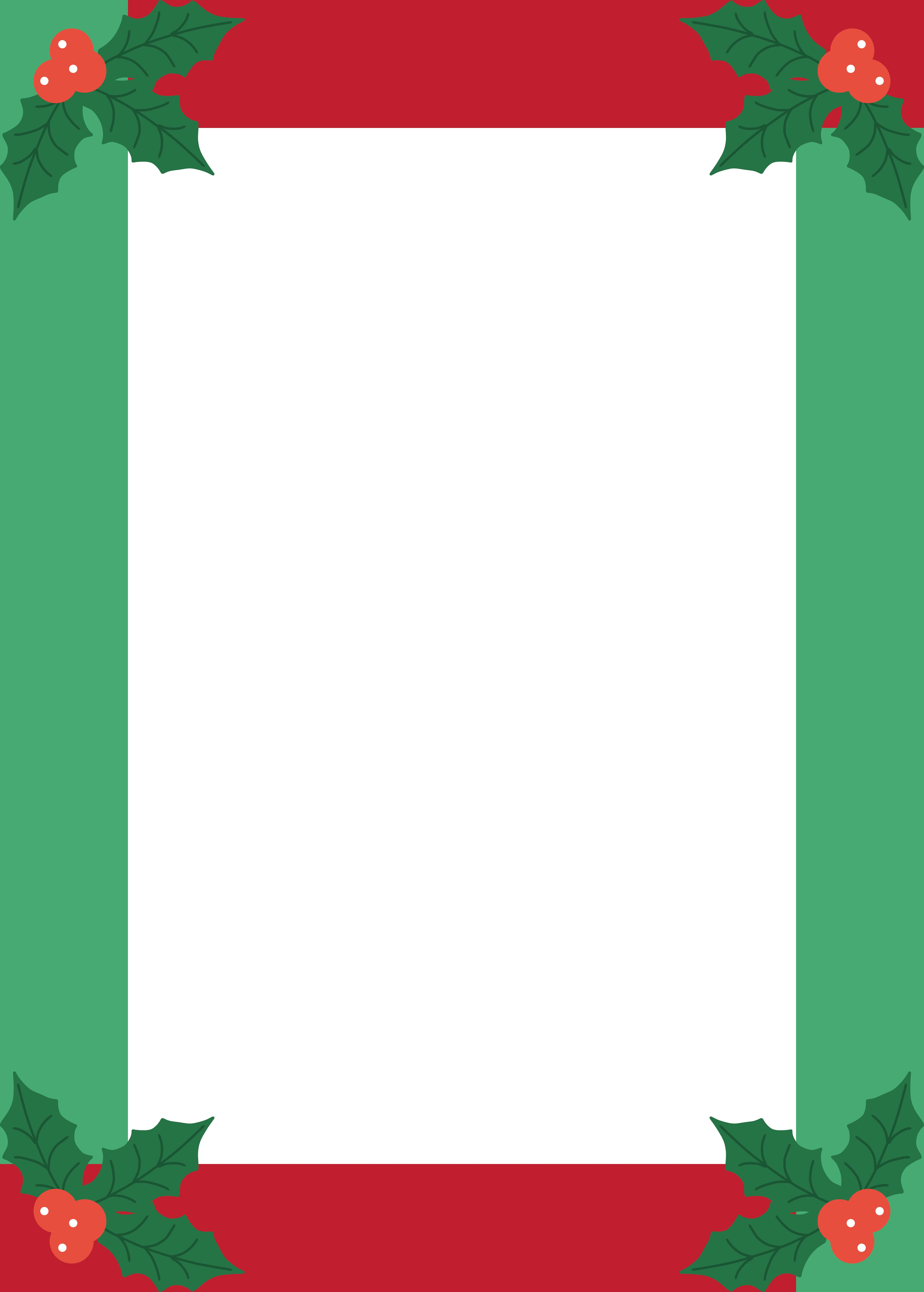 free holiday stationery templates - 5 best images of free printable christmas border templates