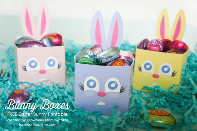 8 Images of Bunny Boxes Free Printable