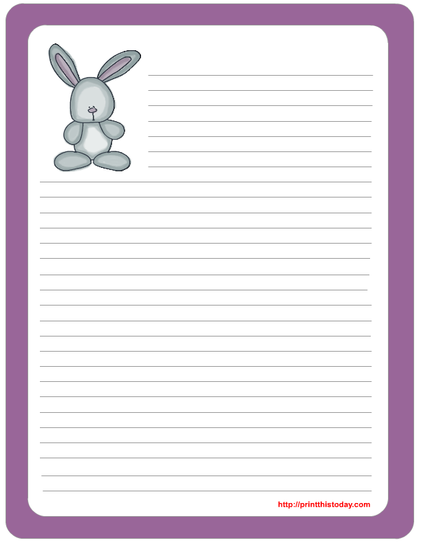 Free Printable Easter Bunny Stationary