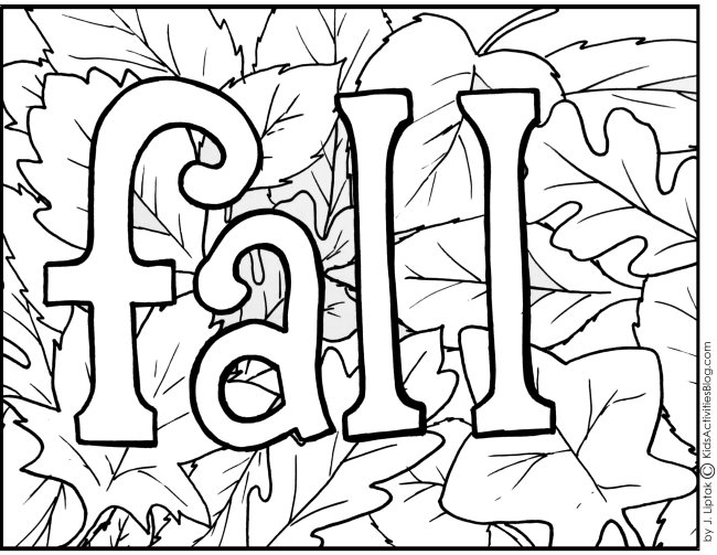 5 Images of Printable Fall Coloring Pages For Kids