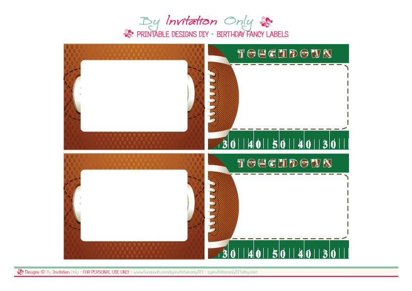 Printable Football Birthday Invitations