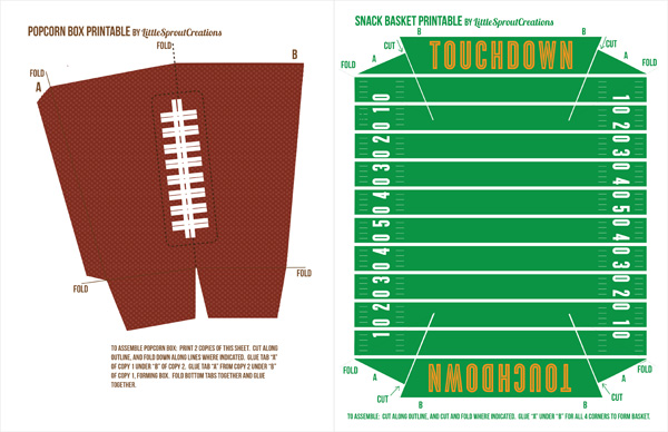 Printable Football Decorations