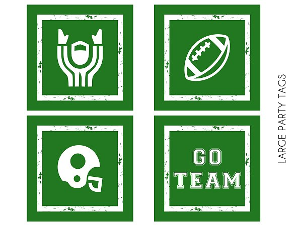 Printable Football Party Tags