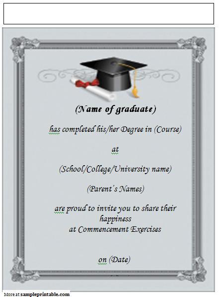 8 Images of Printable Graduation Announcements Online