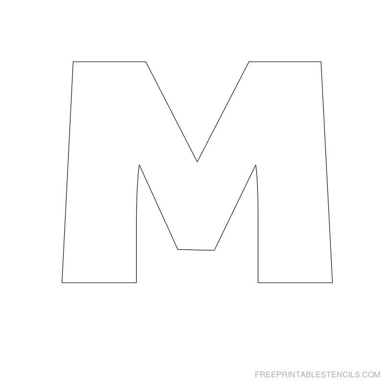 Free Printable Letter Stencils M