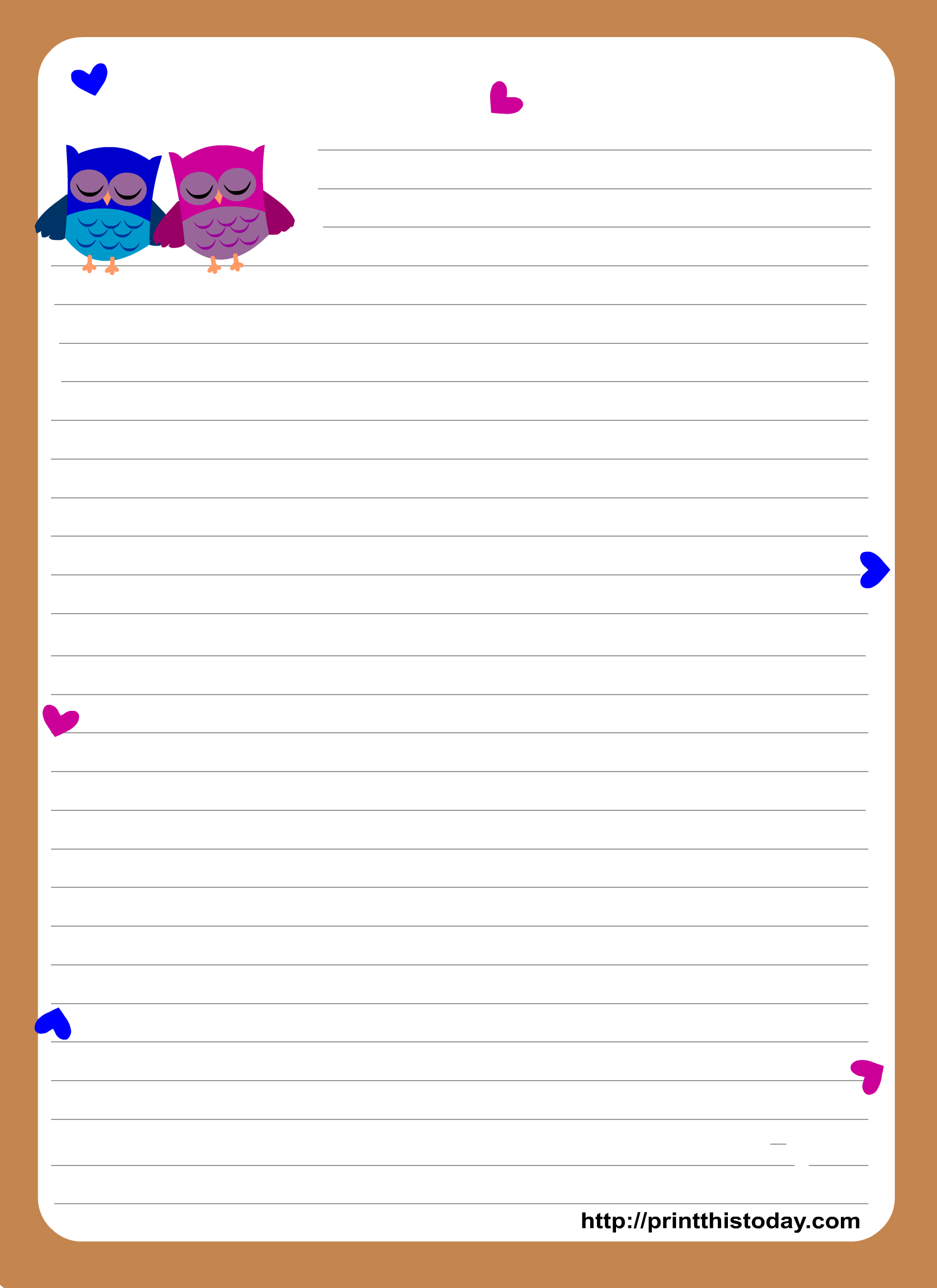 School Writing Paper Template. printable writing paper with lines ...
