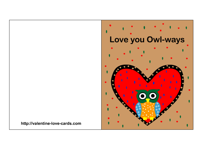 7 Images of I Love You Printable Cards For Him