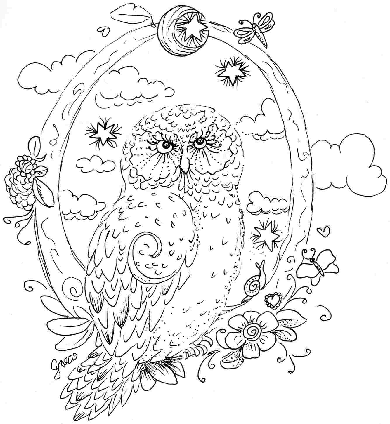4 Images of Free Printable Coloring Pages Animals Owls