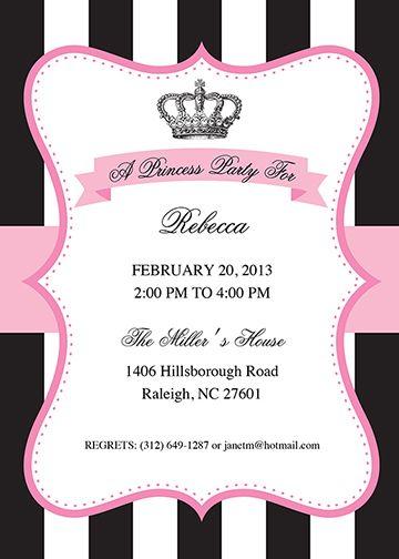Printable Princess Party Invitation Template