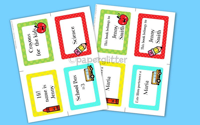 Free Printable School Labels for Kids