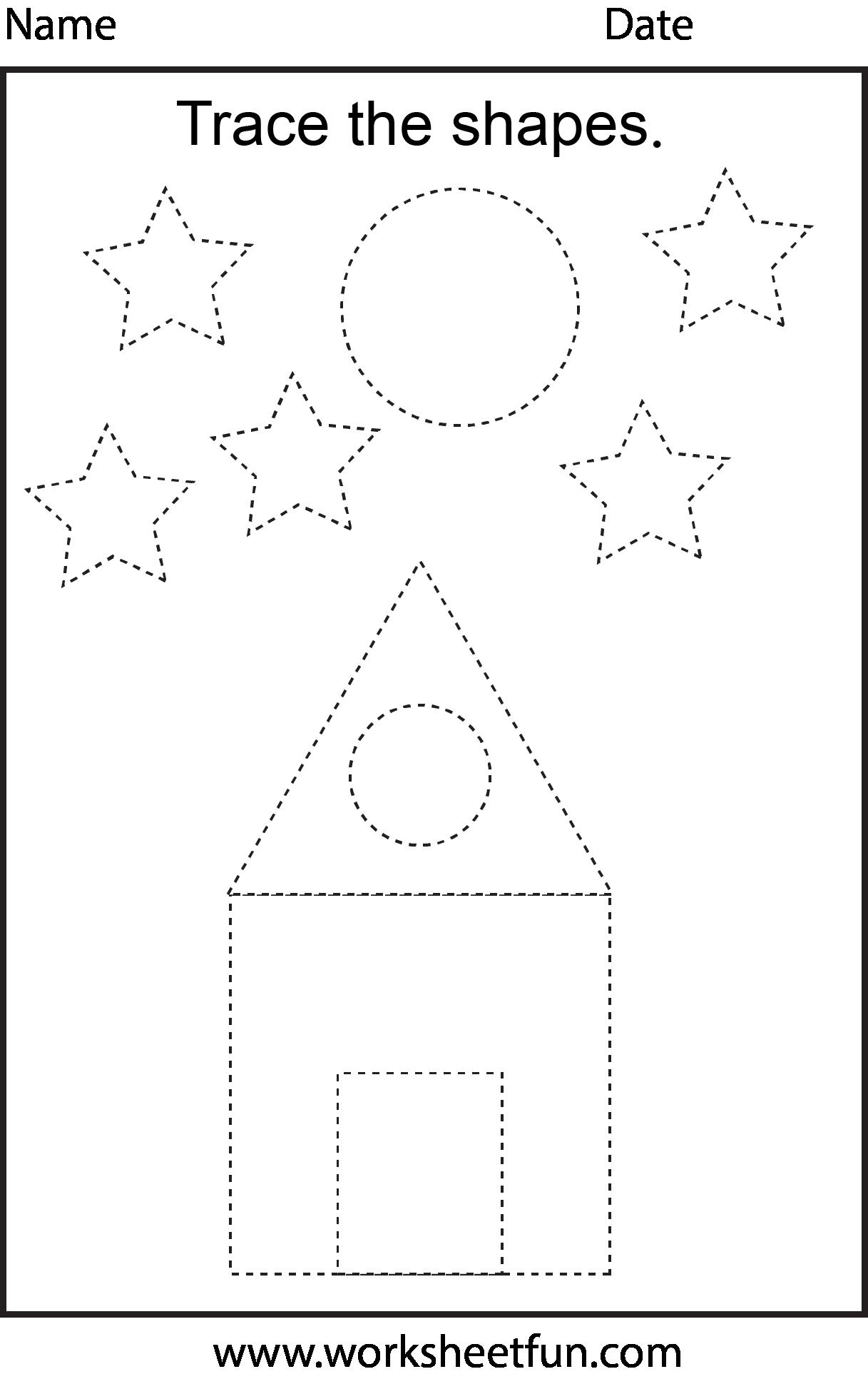 7 Best Images Of Opposites Worksheet Trace Preschoolers