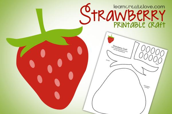 Free Printable Strawberry Craft