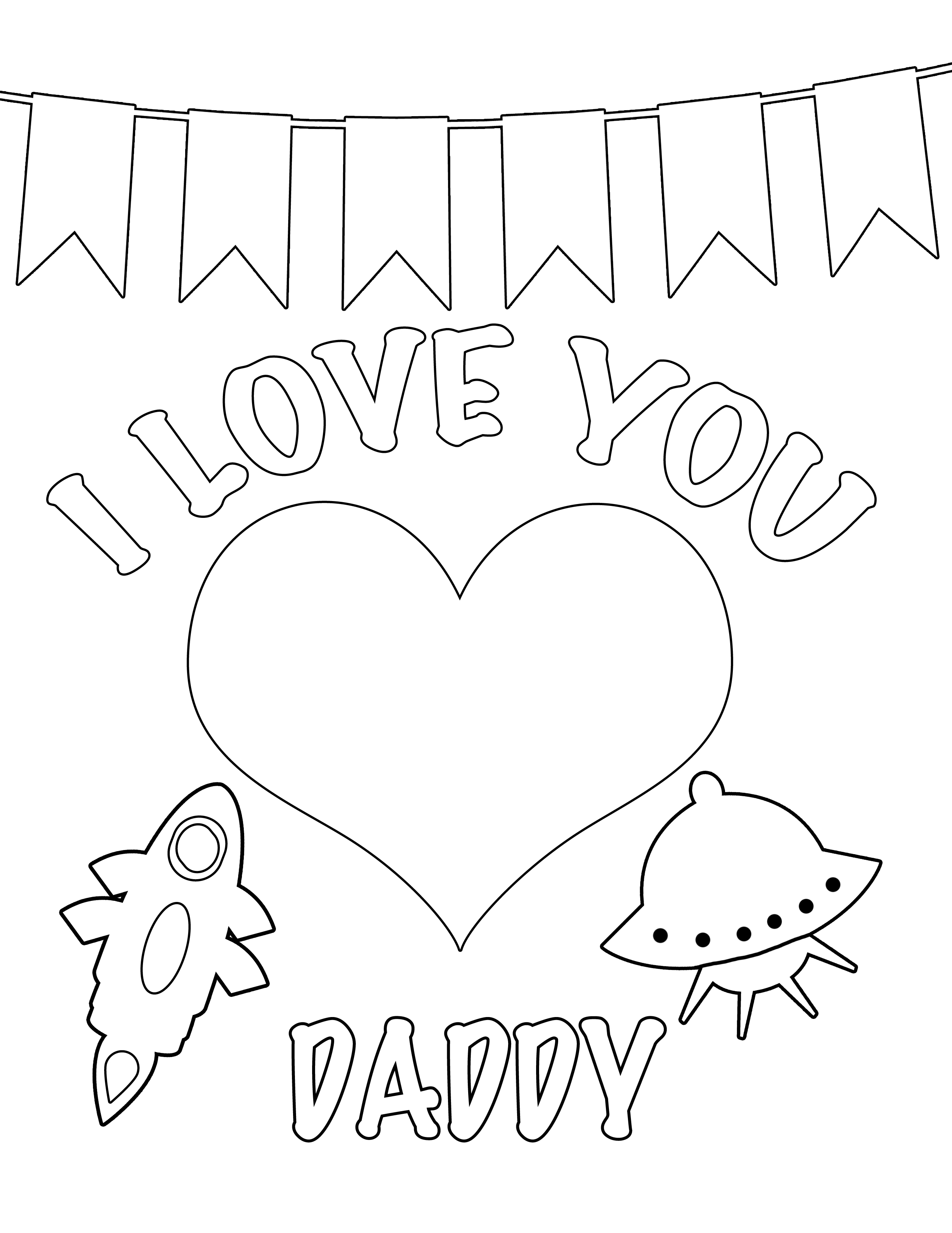 6 best images of i love you daddy printables i love for We love you coloring pages