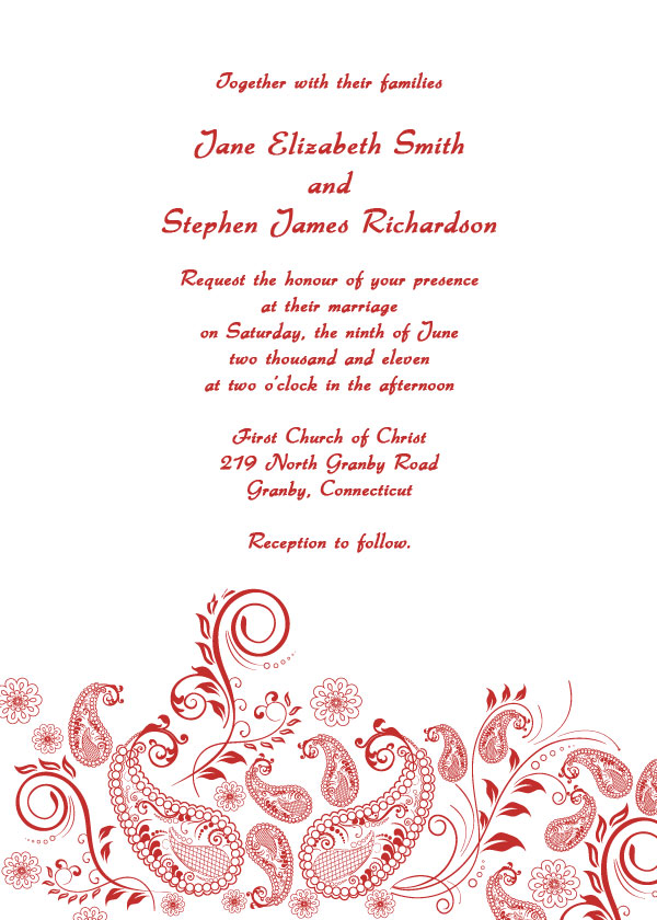 5 Images of Printable Wedding Invitation Templates