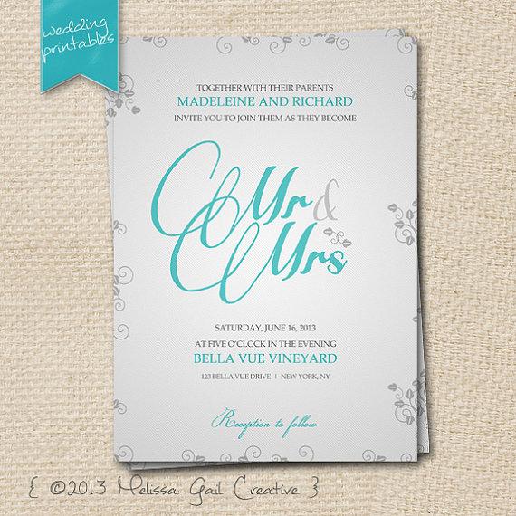 6 Images of DIY Wedding Invitation Printable