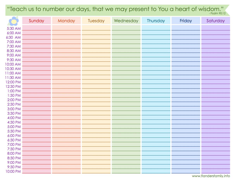 8 Best Images of Free Printable Blank Weekly Schedule ...