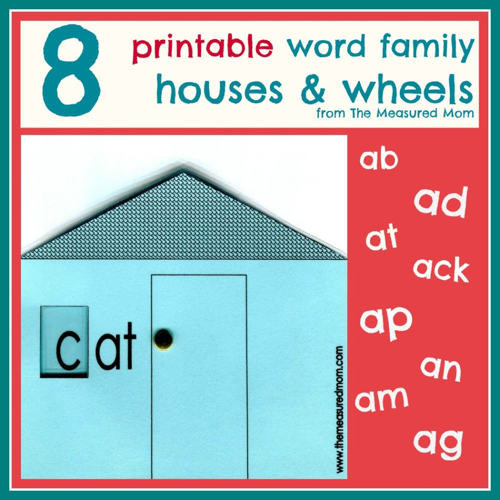 4 Images of Word Family Word Wheels Printable