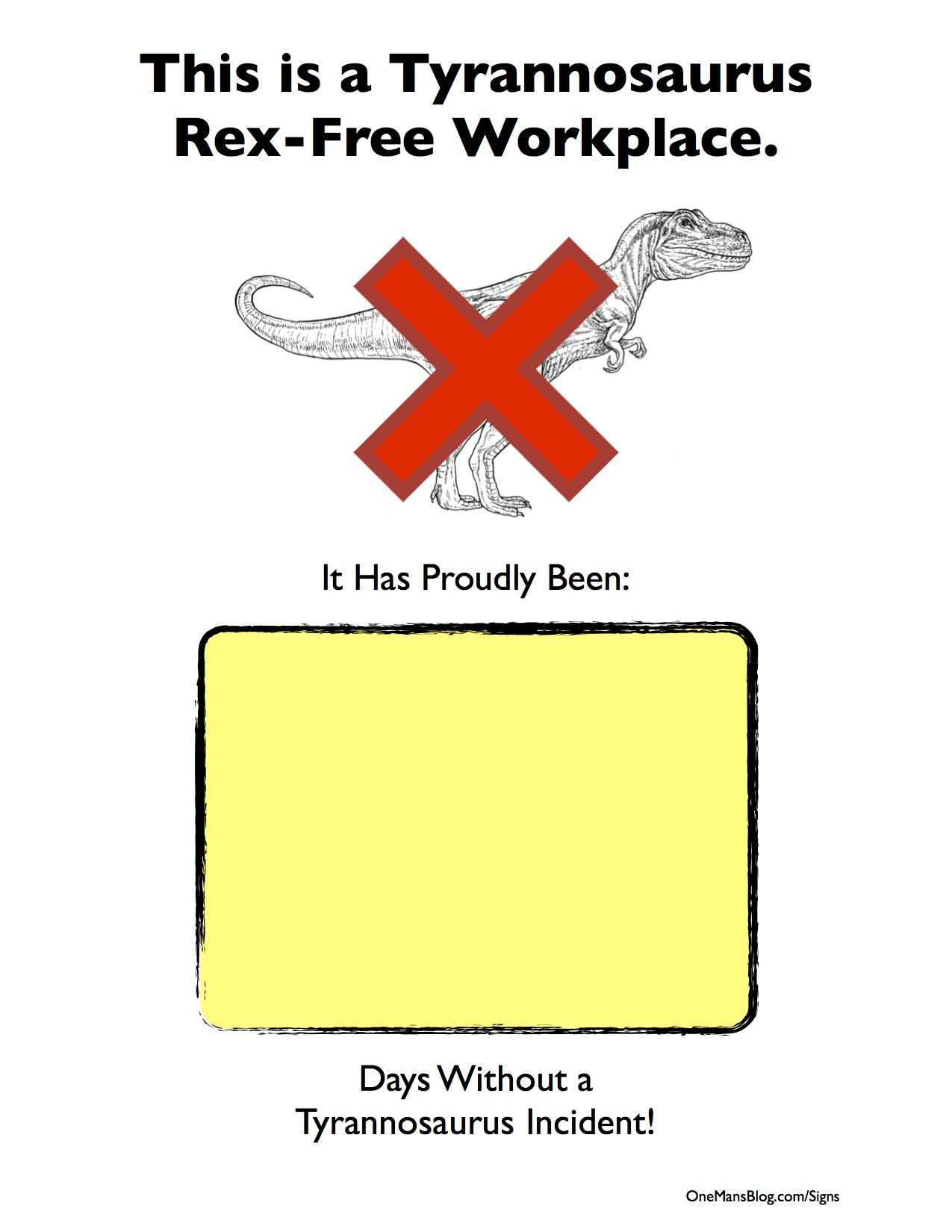 Printable Workplace Signs Funny