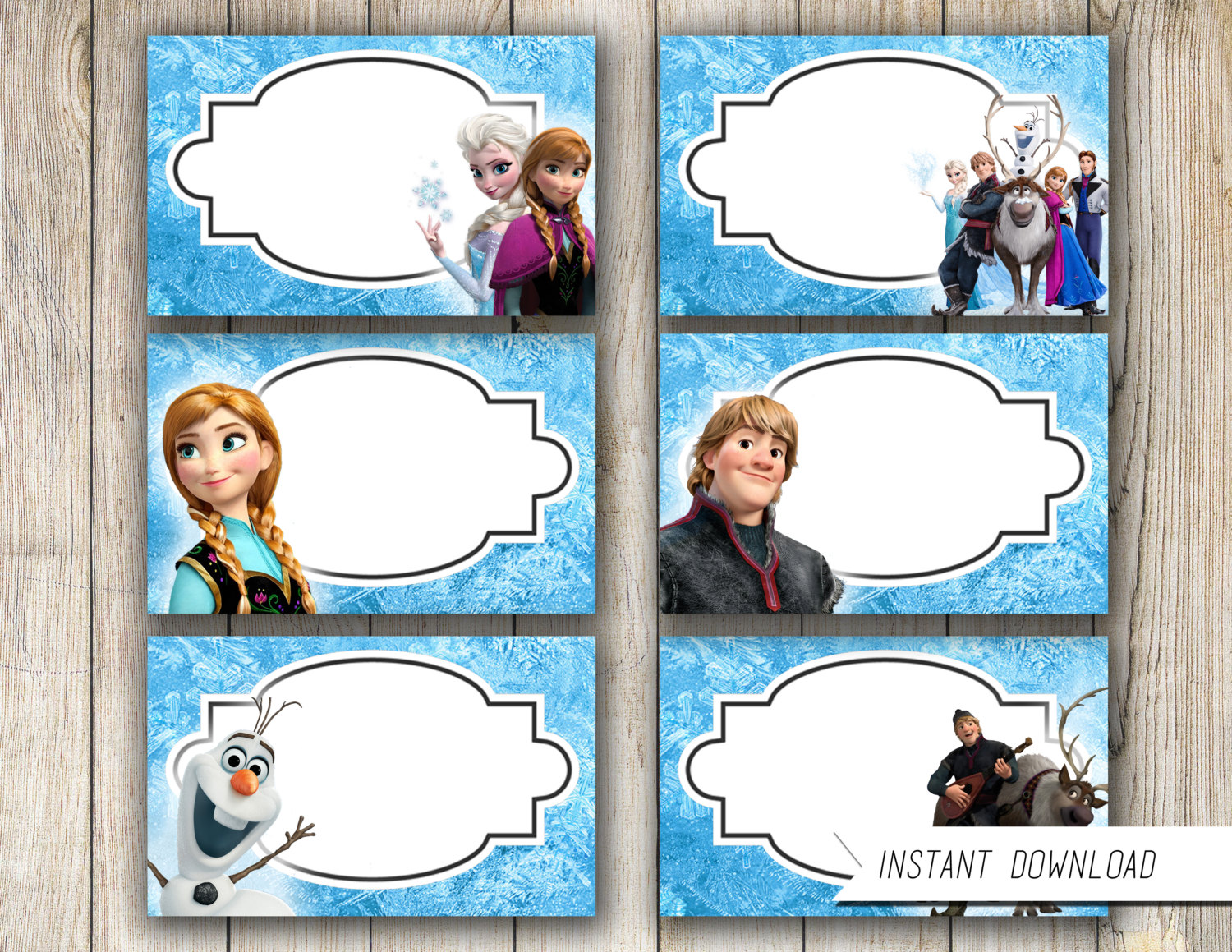 6 Images of Frozen Food Printables