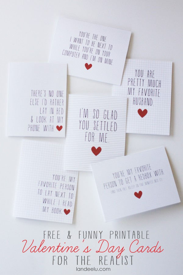 6 Images of Fun Valentine's Day Printables