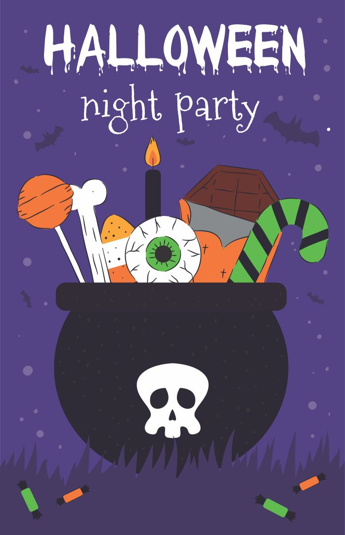 6 Images of Free Printable Halloween Invitation Witch