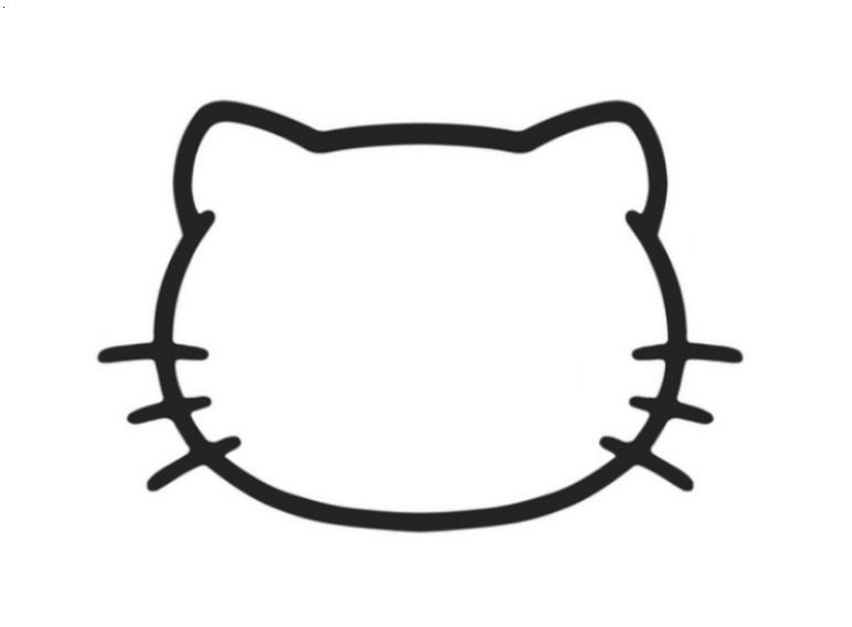 4 best images of hello kitty bow printable cutouts hello for Hello kitty cut out template