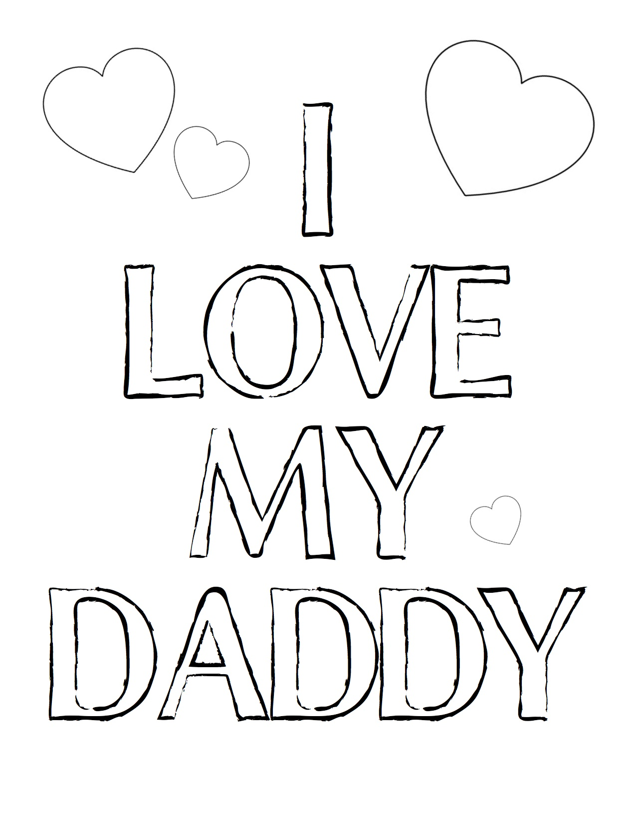 6 Images of I Love You Daddy Printables