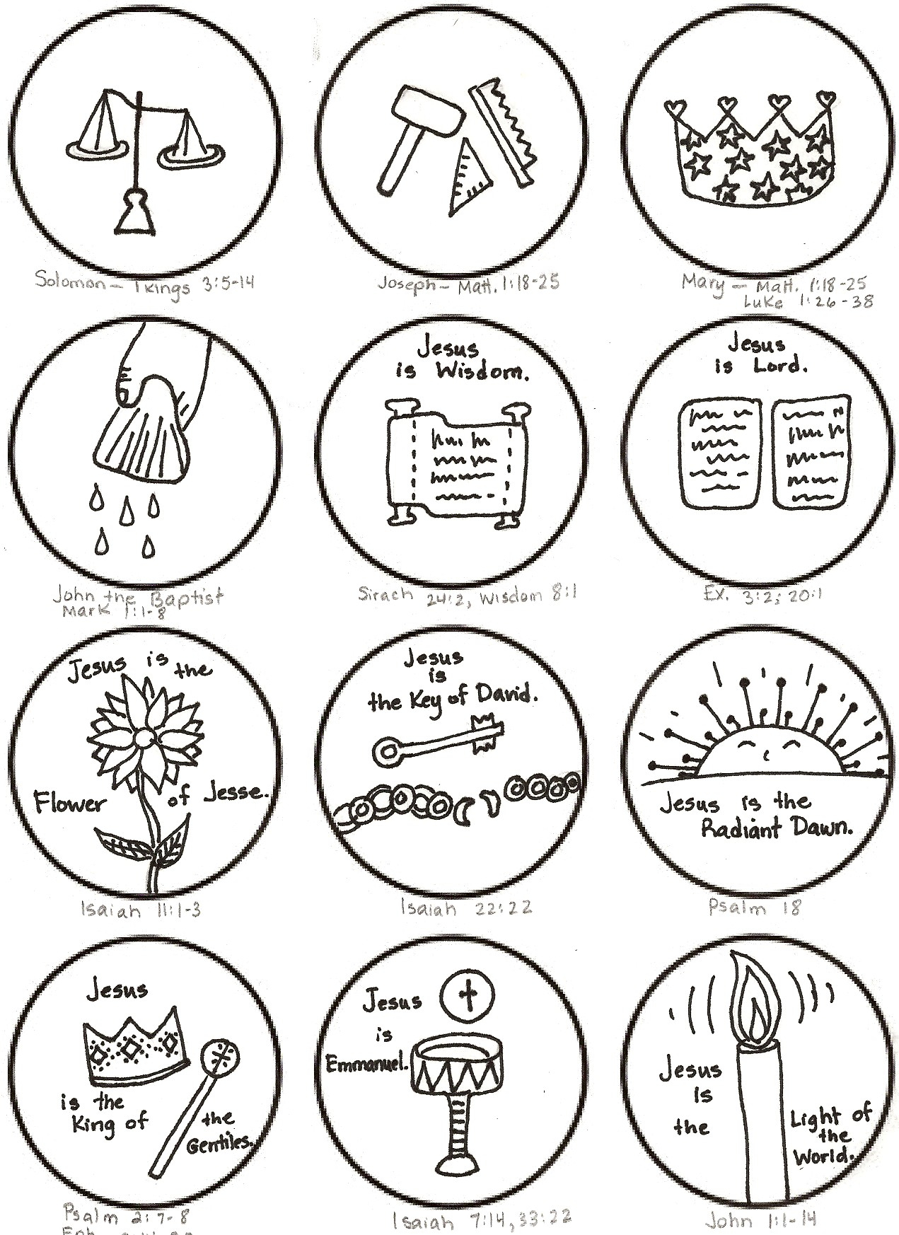 9 Images of Jesse Tree Printables