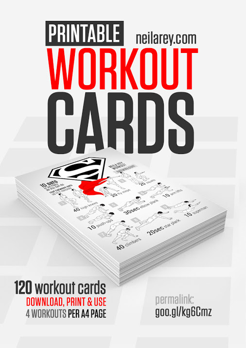 6 Images of Free Printable Exercise Cards