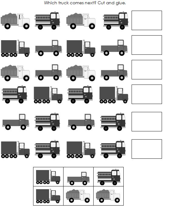 Worksheet Printable Pattern Worksheets 6 best images of kindergarten pattern worksheets printables free preschool kindergarten