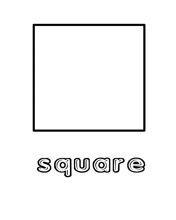 4 Images of Preschool Printables Shapes Square