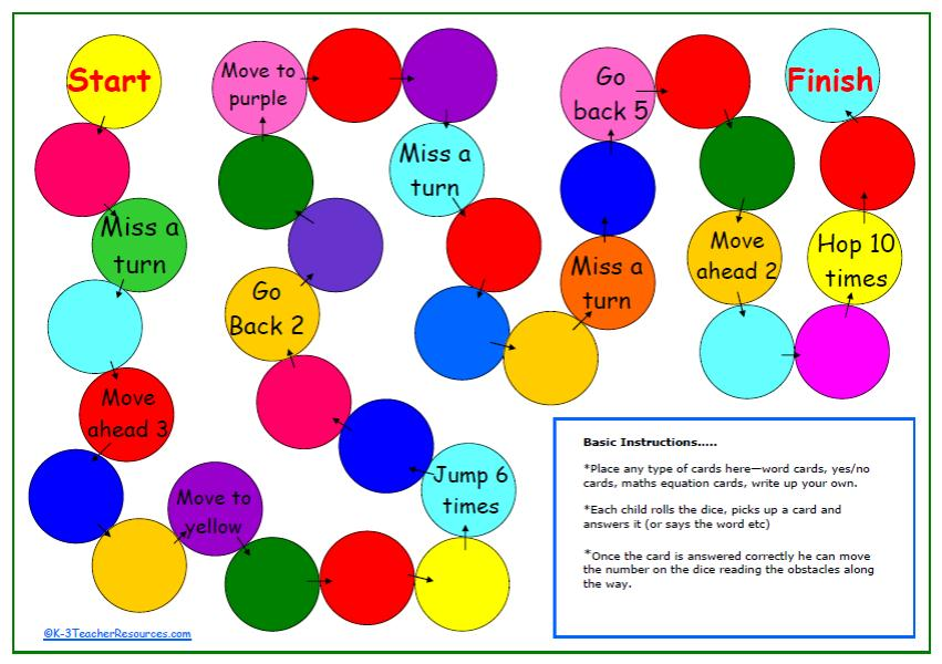 5 Best Images of Printable Game Boards For Teachers ...