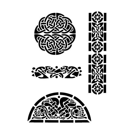 Pics For > Celtic Border Stencils