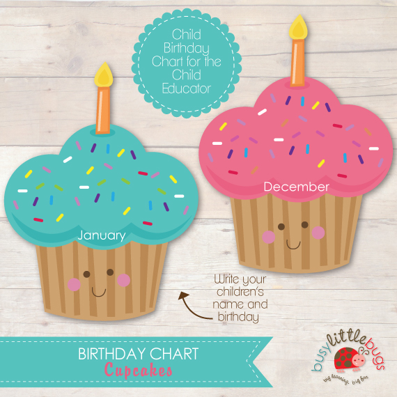 Calendar For Kids In Classroom : Best images of cupcake birthday printables for classroom
